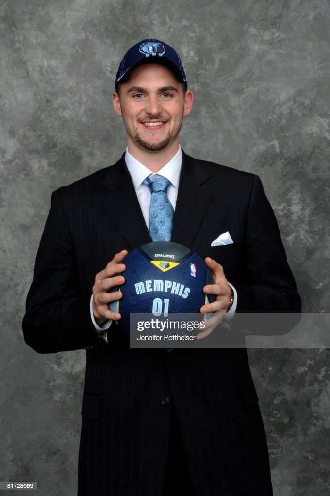 <a gi-track='captionPersonalityLinkClicked' href=/galleries/search?phrase=Kevin+Love&family=editorial&specificpeople=4212726 ng-click='$event.stopPropagation()'>Kevin Love</a> selected number five overall by the Memphis Grizzlies poses for a portrait backstage during the 2008 NBA Draft on June 26, 2008 at the WaMu Theatre at Madison Square Garden in New York City.
