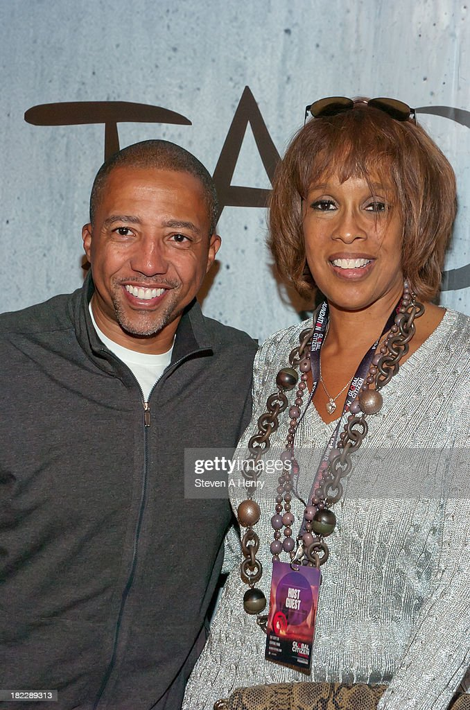 Kevin Lyles and Gayle King attends the grand opening of TAO Downtown on September 28, 2013 in New York City.