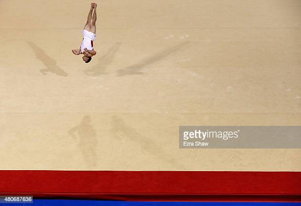 Kevin Lytwyn of Canada competes in the floor exercise during the artistic gymnastics finals on Day 4 of the Toronto 2015 Pan Am Games on July 14 2015...