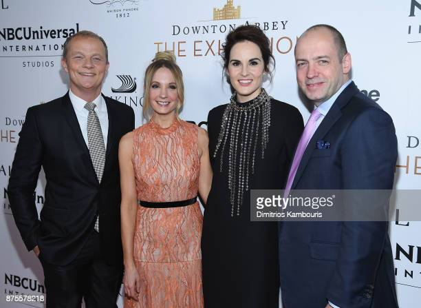 Kevin MacLellan Chairman Global Distribution International NBCUniversal Joanne Froggatt Michelle Dockery and Gareth Neame Series Creator and EP and...