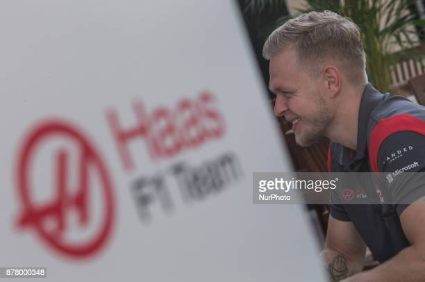 Kevin Magnussen of Danmarkt and Haas Team driver gives an interview on Formula One Etihad Airways Abu Dhabi Grand Prix on Nov 23 2017 in Yas Marina...