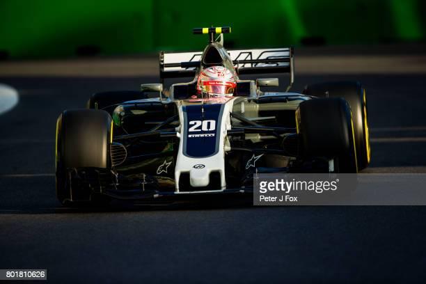 Kevin Magnussen of Denmark and Haas during the Azerbaijan Formula One Grand Prix at Baku City Circuit on June 25 2017 in Baku Azerbaijan