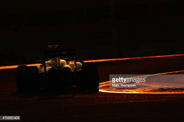 Kevin Magnussen of Denmark and McLaren drives during day one of Formula One Winter Testing at the Bahrain International Circuit on February 19 2014...