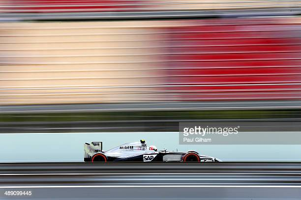 Kevin Magnussen of Denmark and McLaren drives during final practice ahead of the Spanish F1 Grand Prix at Circuit de Catalunya on May 10 2014 in...