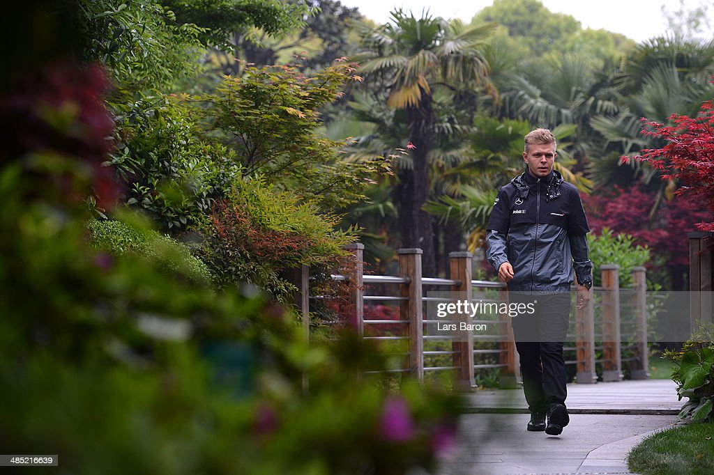 Kevin Magnussen of Denmark and McLaren pictured ahead of the Chinese Formula One Grand Prix at the Shanghai International Circuit on April 17, 2014 in Shanghai, China.