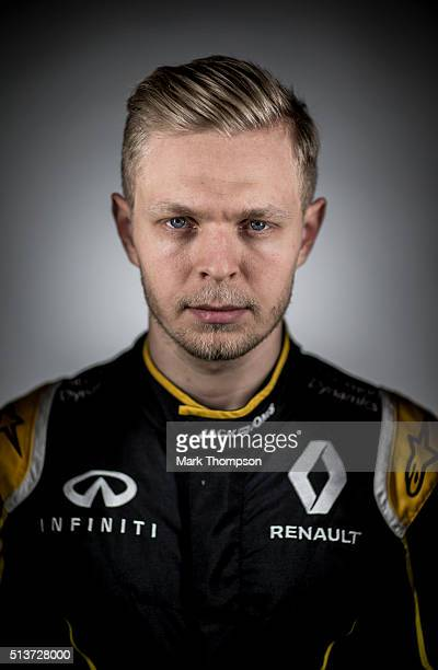 Kevin Magnussen of Denmark and Renault Sport poses for a portrait during day one of F1 winter testing at Circuit de Catalunya on March 1 2016 in...