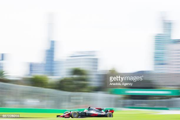 Kevin Magnussen of Denmark driving for Haas F1 Team on Friday Free Practice during the 2017 Rolex Australian Formula 1 Grand Prix at Albert Park...