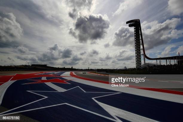 Kevin Magnussen of Denmark driving the Haas F1 Team HaasFerrari VF17 Ferrari on track during practice for the United States Formula One Grand Prix at...