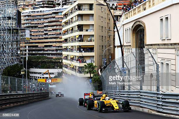 Kevin Magnussen of Denmark driving the Renault Sport Formula One Team Renault RS16 Renault RE16 turbo on track during the Monaco Formula One Grand...