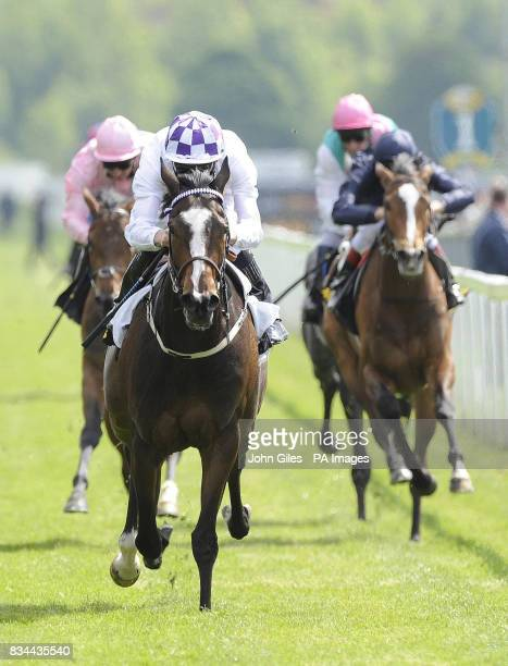 Kevin Manning and Lush Lashes win the Tattersalls Musidora Stakes at York Racecourse York