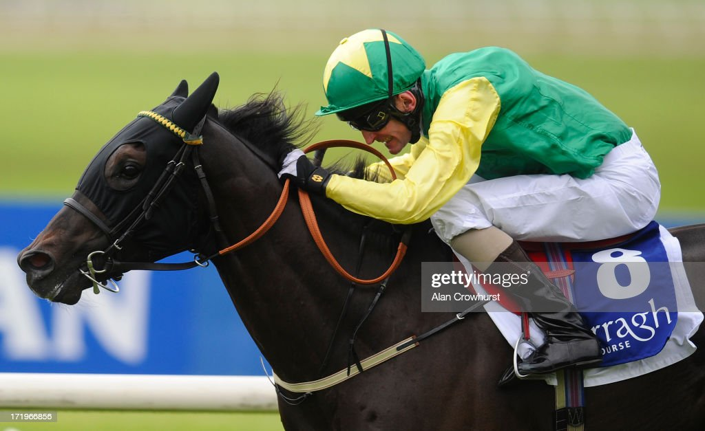 Kevin Manning riding Renaissance Art win The Barronstown Stud EBF Maiden at Curragh racecourse on June 30, 2013 in Kildare, Ireland.