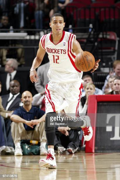 Kevin Martin of the Houston Rockets moves the ball up court during the game against the Indiana Pacers at Toyota Center on February 20 2010 in...