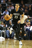 Kevin Martin of the Minnesota Timberwolves handles the ball against the Houston Rockets at Arena Ciudad de México in Mexico City Mexico NOTE TO USER...
