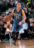 Kevin Martin of the Minnesota Timberwolves handles the ball against the Dallas Mavericks on February 2 2015 at the American Airlines Center in Dallas...