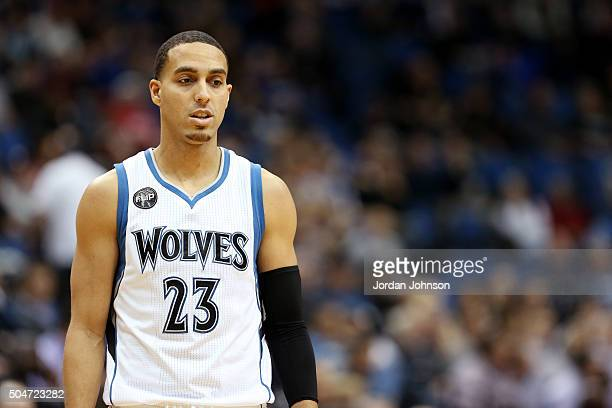 Kevin Martin of the Minnesota Timberwolves looks on during the game against the Oklahoma City Thunder on January 12 2016 at Target Center in...