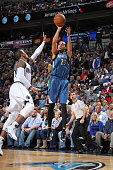 Kevin Martin of the Minnesota Timberwolves shoots the ball against the Dallas Mavericks during the game on November 15 2014 at the American Airlines...