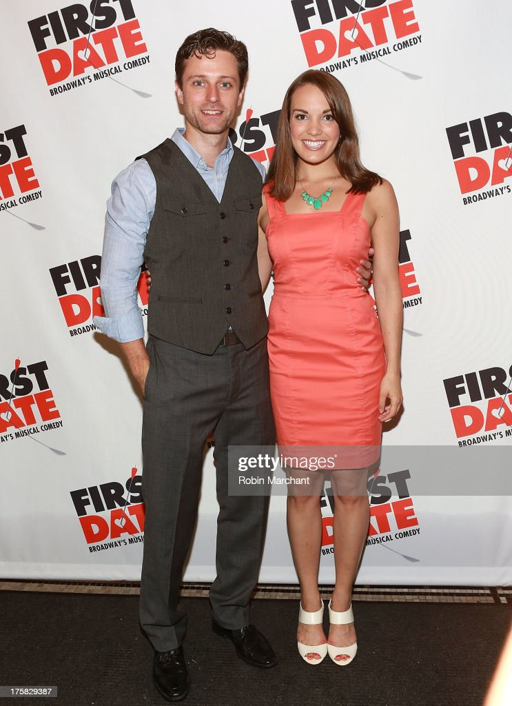 Kevin Massey (L) and Kara Lindsay attend 'First Date' Broadway Opening Night at Longacre Theatre on August 8, 2013 in New York City.