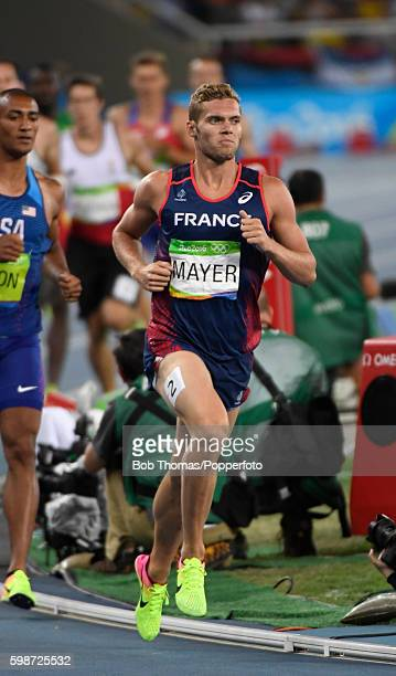Kevin Mayer of France competes in the 1500m of the Men's Decathlon on Day 13 of the Rio 2016 Olympic Games at the Olympic Stadium on August 18 2016...