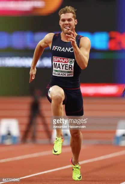 Kevin Mayer of France competes in the Men's Heptathlon 60 metres on day two of the 2017 European Athletics Indoor Championships at the Kombank Arena...