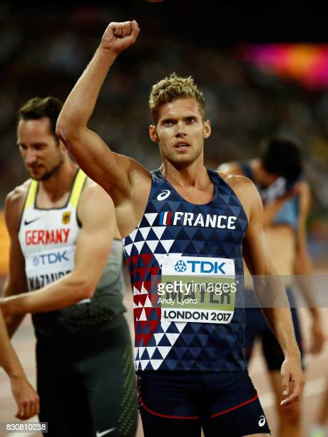 Kevin Mayer of France reacts after the Men's Decathlon 1500 metres during day nine of the 16th IAAF World Athletics Championships London 2017 at The...