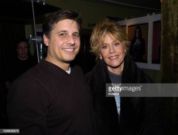 Kevin Mazur and Jane Fonda during 2004 Park City Polaroid Studio at Polaroid Studio in Park City Utah United States