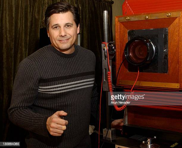 Kevin Mazur and the Polaroid land 20 x 24 camera during 2004 Sundance Film Festival Kevin Mazur Studio