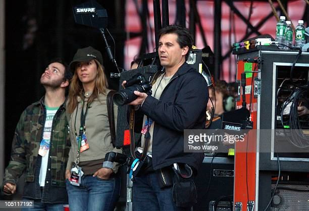 Kevin Mazur during Z100's Zootopia 2003 Show at Giants Stadium in East Rutherford New Jersey United States