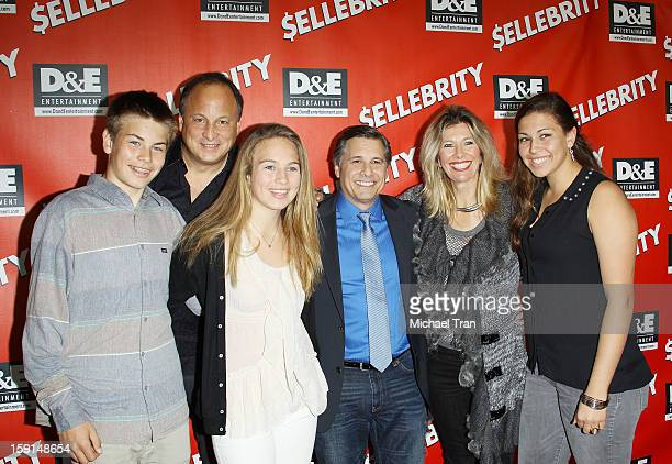 Kevin Mazur with Jeff Kravitz and his family arrive at the Los Angeles premiere of '$ellebrity' held at Chinese 6 Theatres on January 8 2013 in Los...