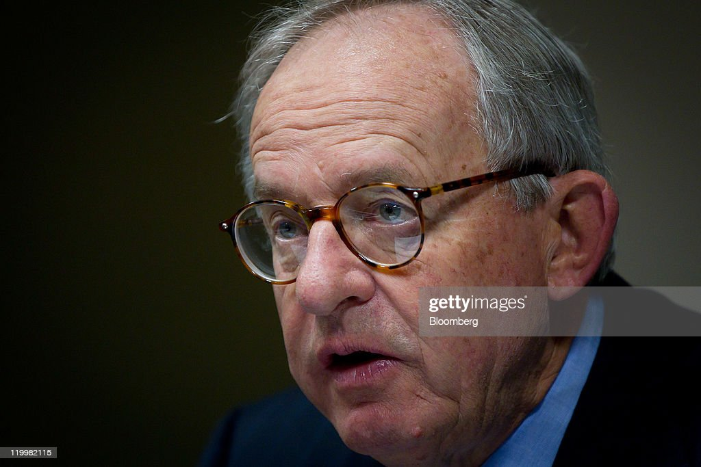 Kevin McCann, chairman of Macquarie Group Ltd., speaks during a media briefing ahead of the company's annual general meeting in Sydney, Australia, ... - kevin-mccann-chairman-of-macquarie-group-ltd-speaks-during-a-media-picture-id119982115