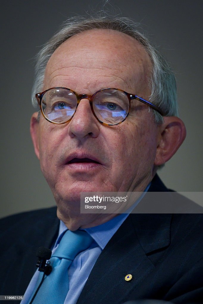 Kevin McCann, chairman of Macquarie Group Ltd., speaks during a media briefing ahead - kevin-mccann-chairman-of-macquarie-group-ltd-speaks-during-a-media-picture-id119982125