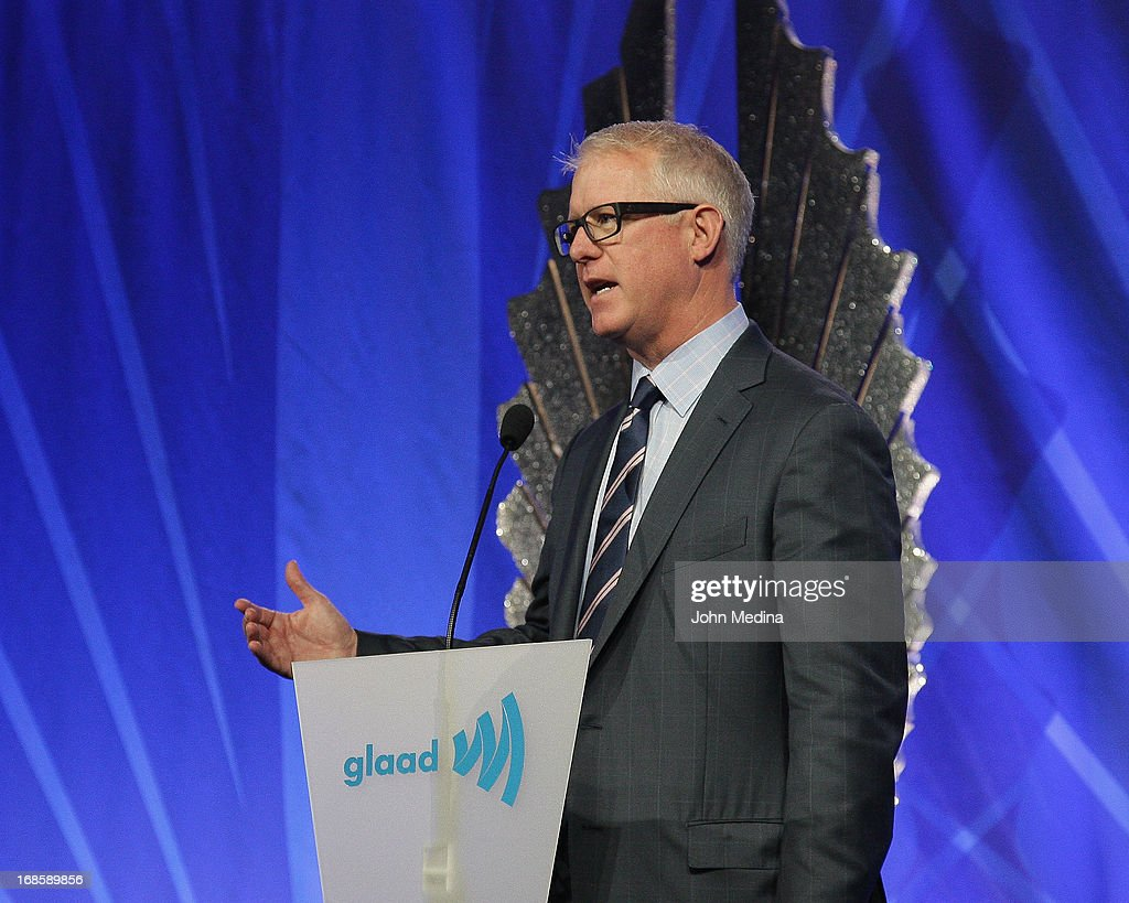 Kevin McClatchy accpets an award during the 24th Annual GLAAD Media Awards at the Hilton San Francisco - Union Square on May 11, 2013 in San Francisco, California.