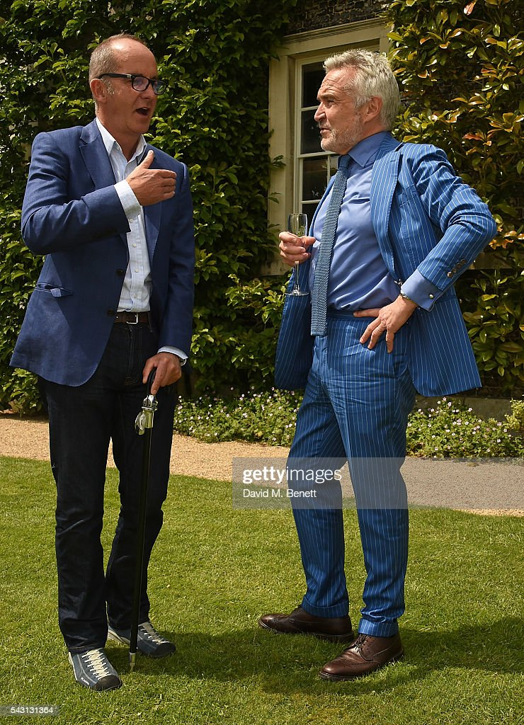 Kevin McCloud and Stephen Bailey attend The Cartier Style et Luxe at the Goodwood Festival of Speed at Goodwood on June 26, 2016 in Chichester, England.