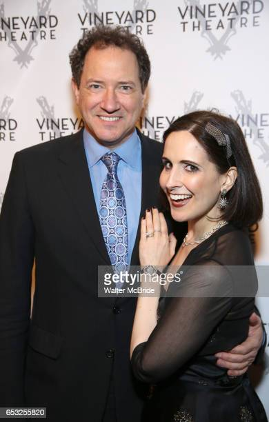 Kevin McCollum and Stephanie D'Abruzzo attend the Vineyard Theatre 2017 Gala at the Edison Ballroom on March 14 2017 in New York City