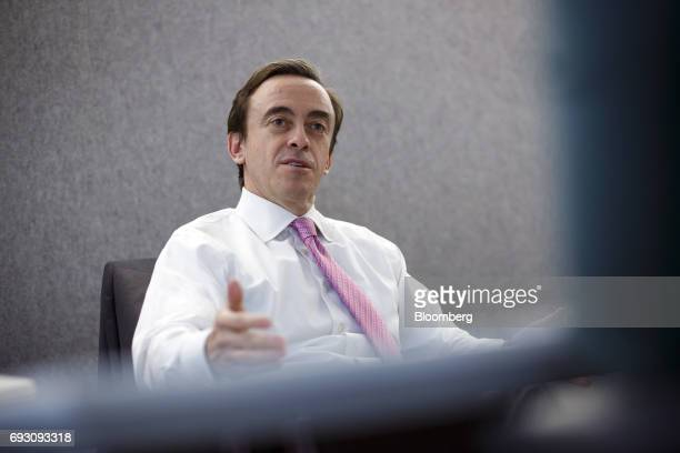 Kevin McCreadie president and chief investment officer of AGF Investments Inc speaks during an interview in Toronto Ontario Canada on Tuesday June 6...