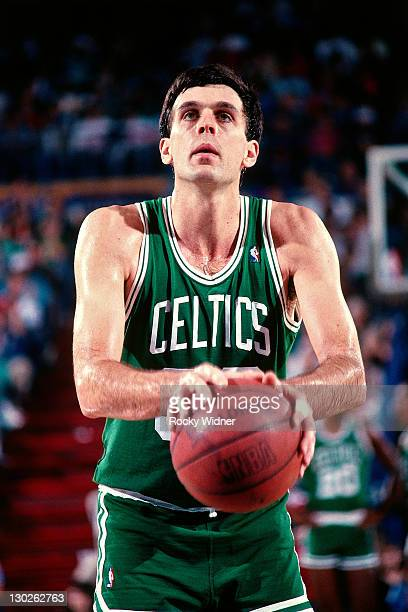 Kevin McHale of the Boston Celtics shoots a freethrow against the Sacramento Kings on December 27 1987 at Arco Arena in Sacramento California NOTE TO...