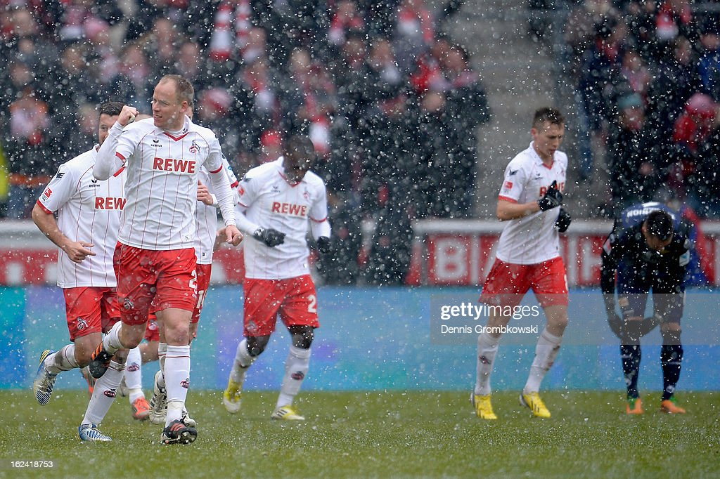 <a gi-track='captionPersonalityLinkClicked' href=/galleries/search?phrase=Kevin+McKenna&family=editorial&specificpeople=247743 ng-click='$event.stopPropagation()'>Kevin McKenna</a> of Cologne celebrates after scoring his team's first goal during the Second Bundesliga match between 1. FC Koeln and Union Berlin at RheinEnergieStadion on February 23, 2013 in Cologne, Germany.