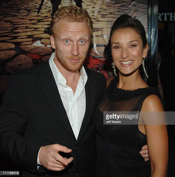 Kevin McKidd and Indira Varma during HBO's 'Rome' Los Angeles Premiere Red Carpet at Wadsworth Theater in Los Angeles California United States