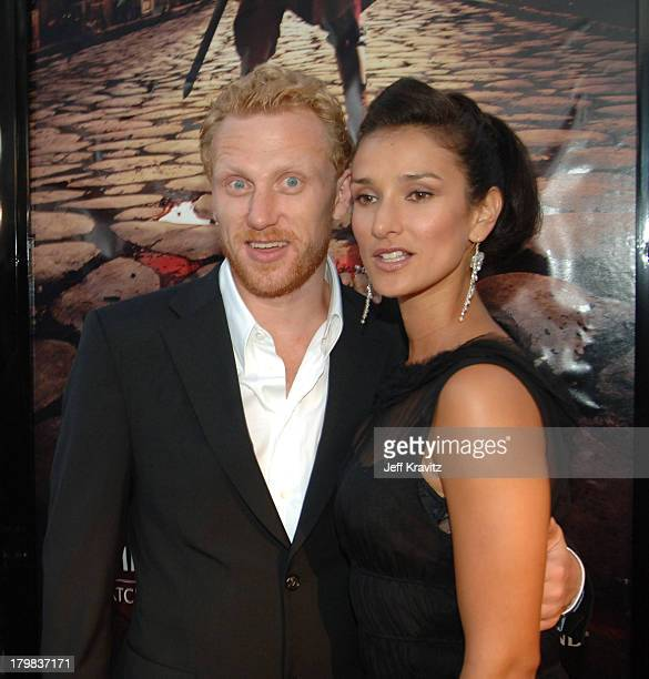 Kevin McKidd and Indira Varma during HBO's Rome Los Angeles Premiere Red Carpet at Wadsworth Theater in Los Angeles California United States