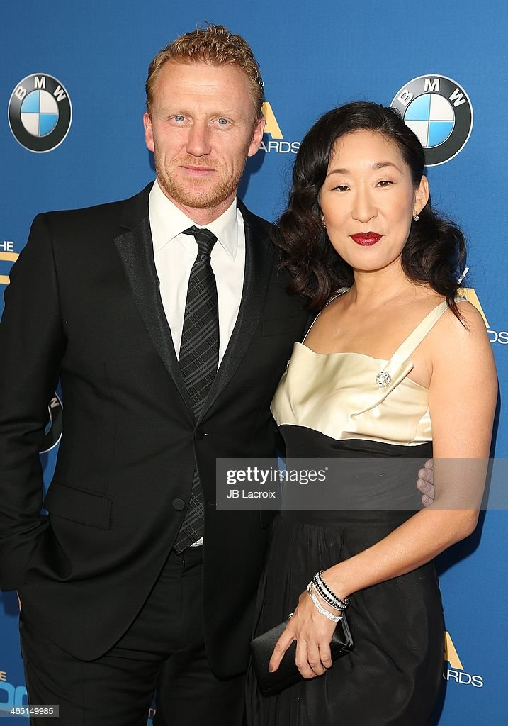 Kevin McKidd and Sandra Oh attend the 66th Annual Directors Guild Of America Awards held at the Hyatt Regency Century Plaza on January 25, 2014 in Century City, California.