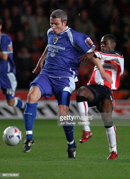 Kevin McNaughton Cardiff City and Nathan Dyer Southampton battle for the ball