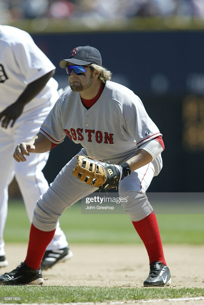 Kevin millar of the boston red sox fields during the game against the