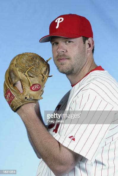 Kevin Millwood of the Philadelphia Phillies poses for a portrait during the Phillies Media Day at Jack Russell Stadium in Clearwater Florida