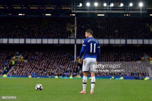Kevin Mirallas during the Premier League match between Everton and West Bromwich Albion at the Goodison Park on March 11 2017 in Liverpool England