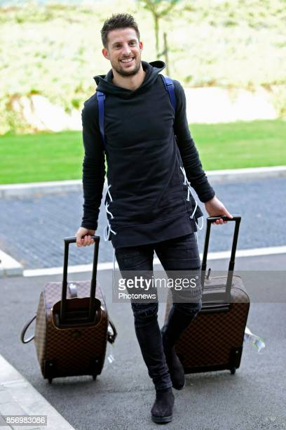 Kevin Mirallas forward of Belgium arrives at the Martin's Red hotel prior to the World Cup 2018 qualification games against Bosnia and Herzegovina...