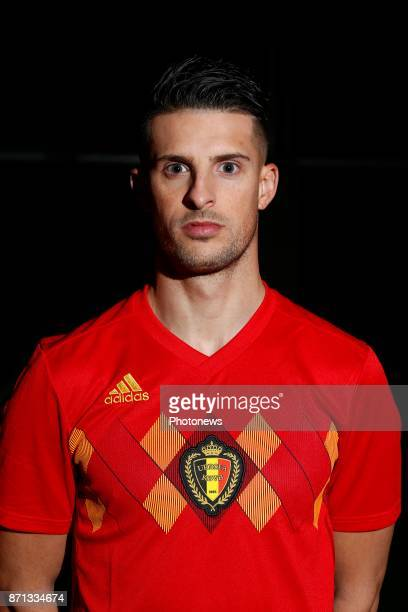 Kevin Mirallas forward of Belgium Official team picture during the photoshoot of the Red Devils at the national training center on November 07 2017...