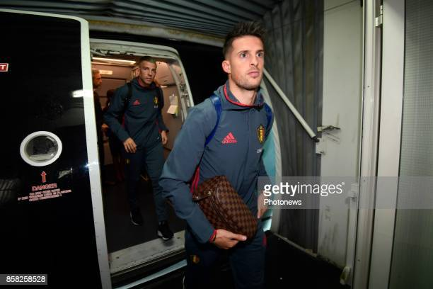 Kevin Mirallas forward of Belgium pictured during the arrival of the National Soccer Team of Belgium prior to the 2018 World Cup qualifier against...