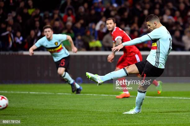 Kevin Mirallas forward of Belgium scores a goal during the International Friendly Match before the FIFA World Cup 2018 in Russia between Russia and...