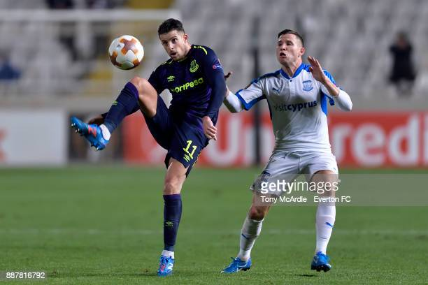 Kevin Mirallas of Everton controls the ball during the UEFA Europa League Group E match between Apollon Limassol and Everton at GSP Stadium on...
