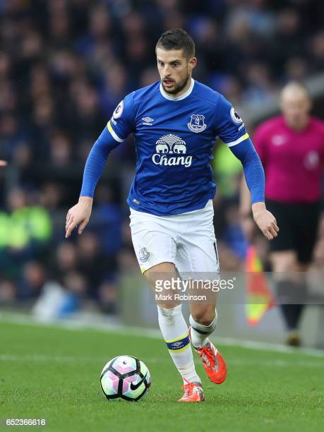 Kevin Mirallas of Everton during the Premier League match between Everton and West Bromwich Albion at Goodison Park on March 11 2017 in Liverpool...