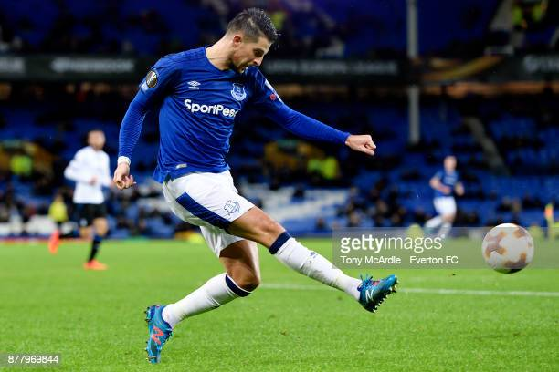 Kevin Mirallas of Everton during the UEFA Europa League group E match between Everton and Atalanta at Goodison Park on November 23 2017 in Liverpool...